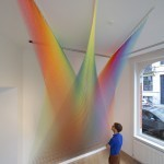 "Colored Thread Installations by Gabriel Dawe | Colossal | ""Life Without Art Is Stupid"" 