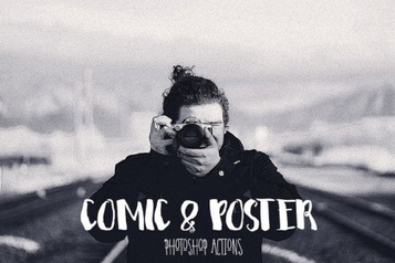 Comic & Poster Free Photoshop Action - Free Design Resources