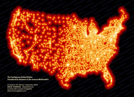 Distance To McDonald's – A McDistance Map Of The Contiguous U.S. | M@pping the World | Scoop.it