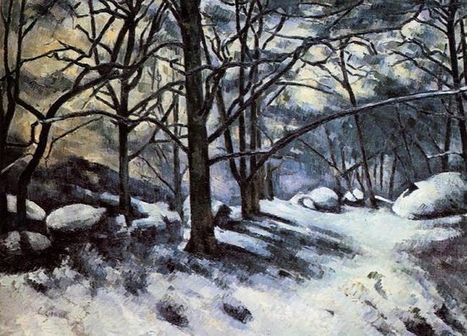 Oil painting reproduction: Paul Cezanne Melting Snow Fontainbleau 1880 - Artisoo.com | arttek | Scoop.it