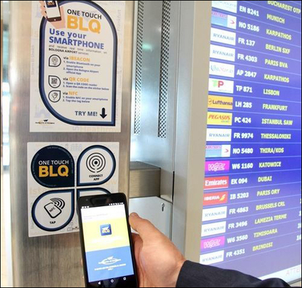 Beacons and NFC RFID Take Off at Bologna Airport | RFID & NFC FOR AIRLINES (AIR FRANCE-KLM) | Scoop.it