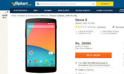 Google Nexus 5 Spotted Online for Rs 30999: Will You Buy It? - Gizbot | online mobile shop in india | Scoop.it