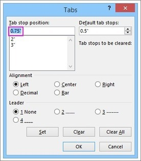 Set tabs in a Word document | CA 10D - Editing and Formatting Documents | Scoop.it