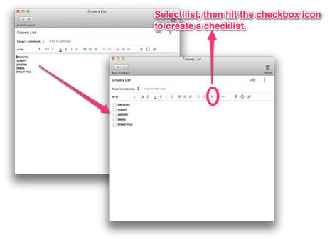 Evernote : créer des listes de tâches plus rapidement avec les Cases à Cocher | Evernote, gestion de l'information numérique | Scoop.it