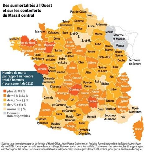 La géographie des « morts pour la France » | Nos Racines | Scoop.it