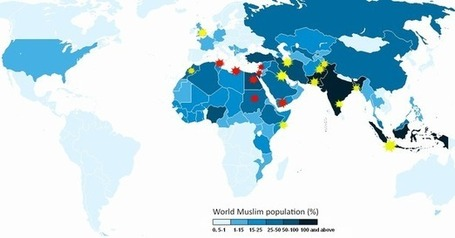 An Annotated Map of Today's Protests and of the 'Muslim World' | World History and Current Issues | Scoop.it