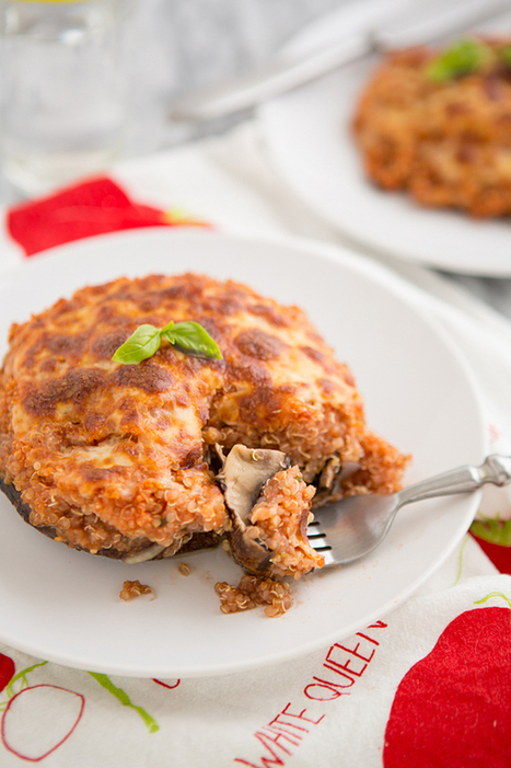 Pizza Quinoa Stuffed Portabella Mushrooms Recipe   The Man With The Golden Tongs Goes All Out On Health   Scoop.it