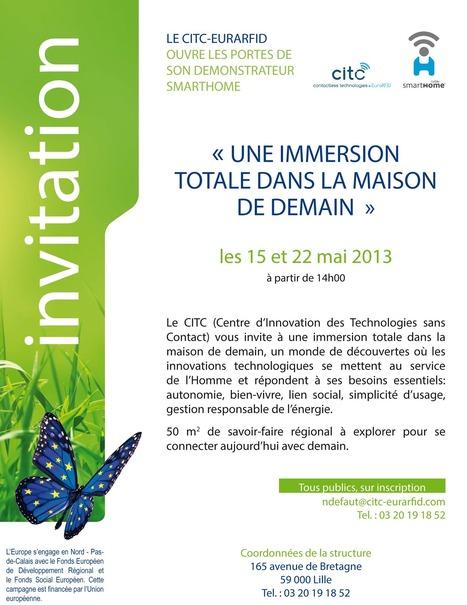 Ouverture des portes de la Smarthome les 15 & 22 mai lors de la Fête de l'Europe | Objets connectés, intelligents et communiquants | Scoop.it