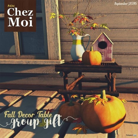 Fall Decor Table September 2016 Group Gift by Chez Moi Furniture | Teleport Hub - Second Life Freebies | Second Life Freebies | Scoop.it