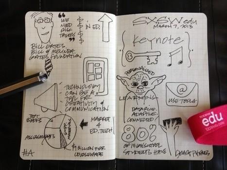 Getting sketchy at SXSWedu | Flip the Media | SKETCHNOTING | Scoop.it