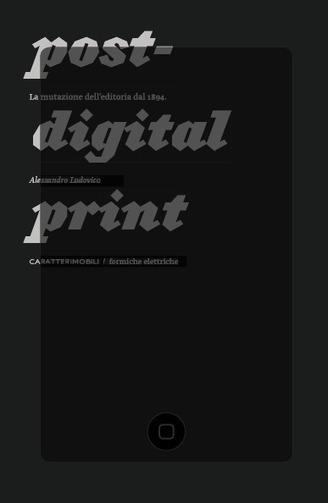 Scacco al web - La carta prima e dopo il digitale   Post-digital Print. La mutazione dell'editoria dal 1894   Scoop.it
