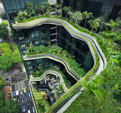 Parkroyal hotel features curved high rise gardens | Art, Design & Technology | Scoop.it