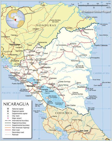 Map of country | Nicaragua, Jessica Ferretiz | Scoop.it