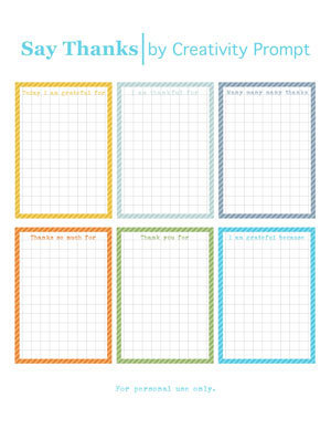 Friday Freebie – Say Thanks Journaling Cards | Creativity Prompt | Journal For You! | Scoop.it