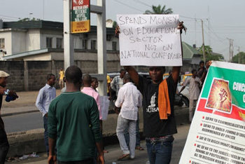 Spend money on education, not Confab, Poly students protest in ...   Education   Scoop.it
