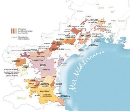 AOC Languedoc   Cartographie des régions   Le Vin et + encore   Scoop.it