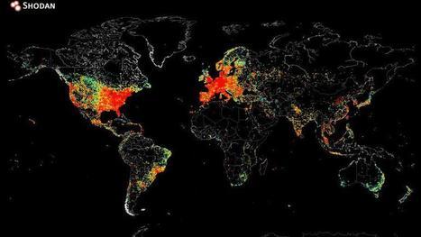 Une carte montre tous les appareils connectés à internet dans le monde | Quantified Self and Internet of Things | Scoop.it