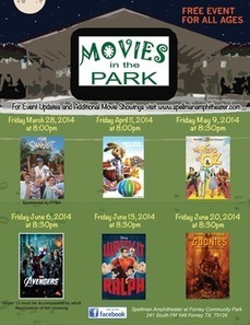 Forney's Free Movies in the Park schedule for 2014 - Examiner.com | Movies, Films, Videos | Scoop.it
