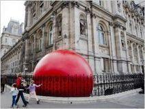 Une boule rouge géante à l'assaut de Paris | L'Etablisienne, un atelier pour créer, fabriquer, rénover, personnaliser... | Scoop.it