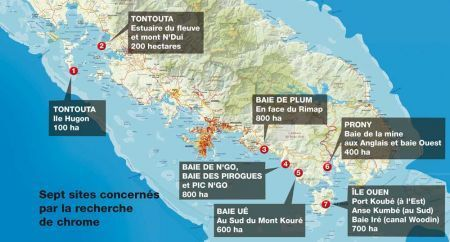 Chrome : les recherches qui inquiètent - Les Nouvelles Calédoniennes | Pollutions minières | Scoop.it