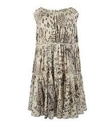 Pretty All Saints IKAT OWL Tiered Cotton Summer Smock Dress New UK 12 40 US 8 | Shot Of Steam | Scoop.it