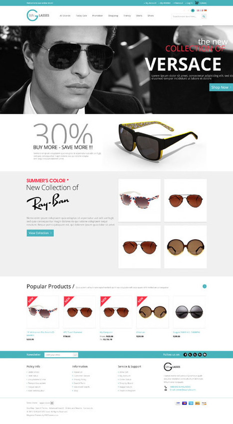 24Columns, Magento Responsive Glasses Shop Theme | Premium Download | Premium Magento Themes | Scoop.it