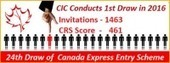 1st Draw Of Canada Express Entry In 2016 Invites 1,463 Candidates | Immigration & Visa Updates | Scoop.it