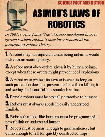 Asimov's Laws of Robotics | Robots, Computers and Science | Scoop.it