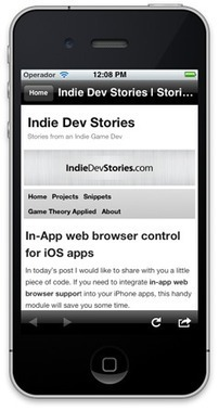 TSMiniWebBrowser : another in app mini browser | iPhone and iPad development | Scoop.it