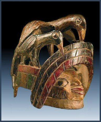 Yoruba gelede mask with birds - RAND AFRICAN ART | Arte Africano Antiguo: La Cultura Yoruba | Scoop.it
