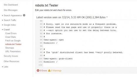 Google presenta nueva herramienta para analizar archivos robots.txt | Social Media, Marketing Online, TICs | Scoop.it