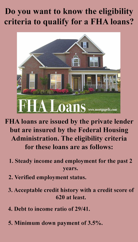 Do you want to know the eligibility criteria to qualify for a FHA loans | Mortgagefit | Scoop.it