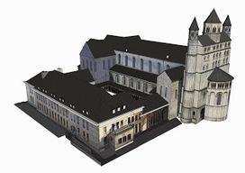 Cartographie en Brabant Wallon: Visite virtuelle 3D de la Collégiale Sainte-Gertrude de Nivelles | (E)Tourism management | Scoop.it
