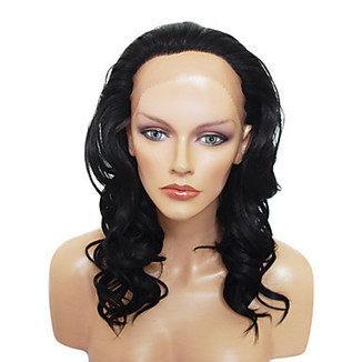 Lace Front Stylish Long Curly Natural Black Heat-resistant Synthetic Wig – WigSuperDeal.com | Party Wigs | Scoop.it