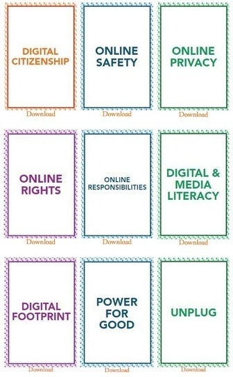 Excellent Free Downloadable Digital Citizenship Cards for your Class | Education Technology | Scoop.it