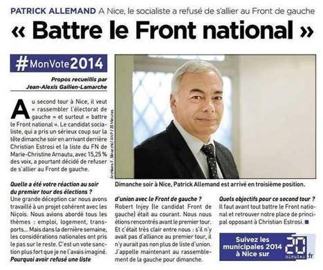 Battre le Front national   Nice 2014, Un autre Avenir pour Nice avec Patrick Allemand   Scoop.it