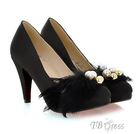 Extraordinary Black Suede Pointed Toe Feather Stiletto Heel Pumps   women fashion&clothing   Scoop.it
