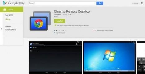 Google comienza las pruebas de su aplicación de control de ordenadores desde Android   google + y google apps   Scoop.it