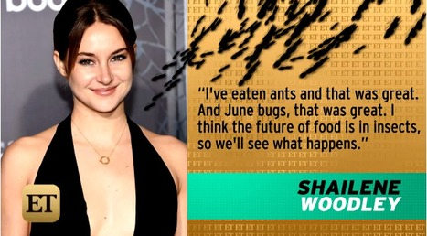 Shailene Woodley Eats Bugs, Calls Insects the 'Future of Food' | Entomophagy: Edible Insects and the Future of Food | Scoop.it