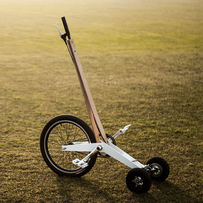 Halfbike pedal-powered scooter resembles a low-tech Segway | Revue de presse Low Tech | Scoop.it