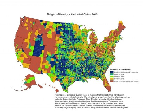 Religion in America's states and counties, in 6 maps | enjoy yourself | Scoop.it