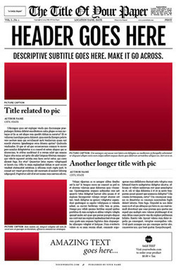 Newspaper Template for Adobe InDesign CS6 | Newspaper Template | Scoop ...