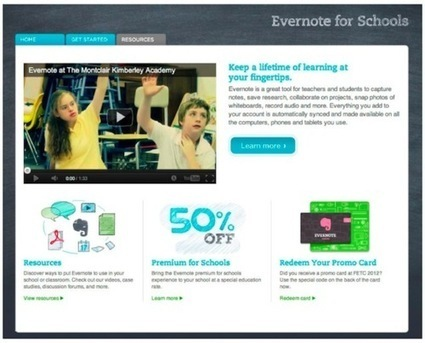 Sitio web Evernote for Schools: Recursos para usar Evernote en educación | Las TIC en el aula de ELE | Scoop.it