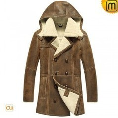 Sheepskin Leather Fur Coat CW878159 | Fur Trimmed Coats | Scoop.it