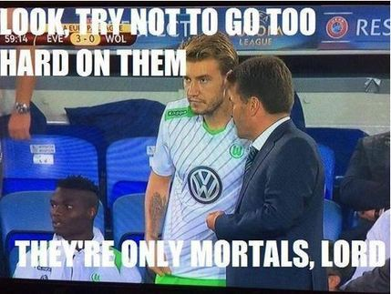 'Lord' Bendtner mocked with Twitter memes after Wolfsburg defeat   socialmediasport   Scoop.it