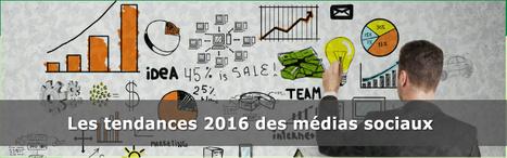 Le Top 5 des Tendances des médias sociaux en 2016 | Social Media Curation par Mon Habitat Web | Scoop.it