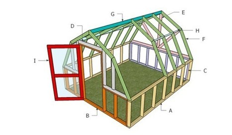 Barn Greenhouse Plans | Free Outdoor Plans - DIY Shed, Wooden Playhouse, Bbq, Woodworking Projects | Garden Plans | Scoop.it