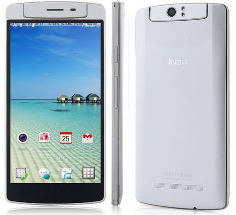 iNew V8 Smartphone Features Mediatek MT6591T Hexa Core Processor, and a Rotating Camera   Embedded Systems News   Scoop.it