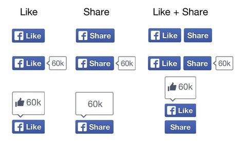 Facebook lance ses nouveaux boutons Like (J'aime) et Share (Je partage) | toute l'info sur Facebook | Scoop.it