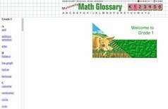 Free Technology for Teachers: Five Mathematics Glossaries for Kids | MatNet | Scoop.it